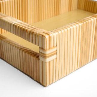 Bandeja fibra sintética trama lisa com puxadores